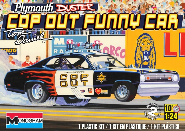 Monogram 4093 1:24th scale Plymouth Duster Cop Out Drag Car by Tom Daniels